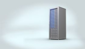 Digitally generated grey server tower Royalty Free Stock Image