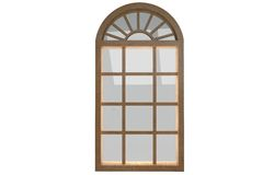 Digitally generated image of arch window Royalty Free Stock Photography