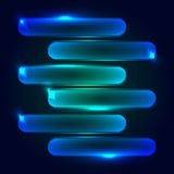 Digitally generated image of blue light and stripes moving fast over black background Royalty Free Stock Photos