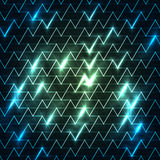 Digitally generated image of blue light and stripes moving fast over black background Stock Photography