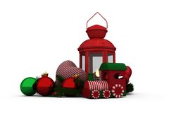 Digitally generated image of Christmas accessories Royalty Free Stock Photo