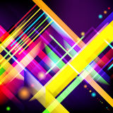 Digitally generated image of colorful light and stripes. Royalty Free Stock Photography