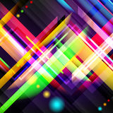 Digitally generated image of colorful light and stripes. Stock Images