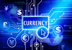 Digitally Generated Image with Currency Concept Stock Photos