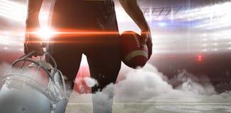 Digitally generated image of illuminated stadium Stock Photography