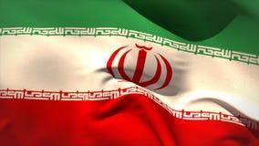 Digitally generated iran flag waving stock footage