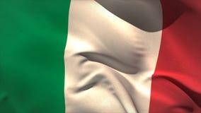 Digitally generated italy flag waving stock video