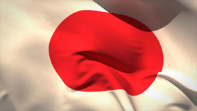Digitally generated japan flag waving stock video