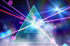Digitally generated laser background Royalty Free Stock Image