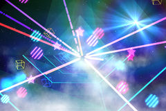 Digitally generated laser background Royalty Free Stock Photos