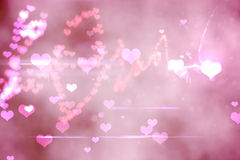 Digitally generated love background Stock Photo