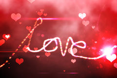 Digitally generated love background Royalty Free Stock Image