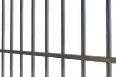 Digitally generated metal prison bars Stock Images