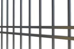 Digitally generated metal prison bars Royalty Free Stock Photo