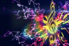 Digitally generated music background Royalty Free Stock Photo