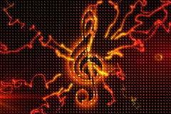 Digitally generated music background Stock Photography
