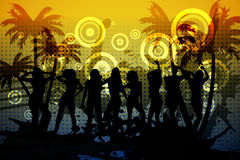 Digitally generated nightclub background Royalty Free Stock Photography