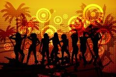 Digitally generated nightclub background Stock Images