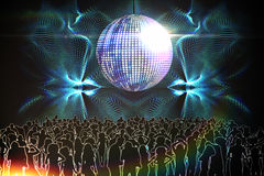 Digitally generated nightclub Royalty Free Stock Images