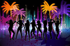 Digitally generated nightlife background Stock Photo