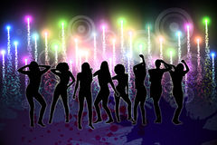 Digitally generated nightlife background Royalty Free Stock Image