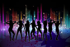 Digitally generated nightlife background Royalty Free Stock Photo