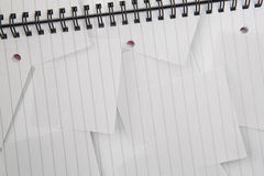 Digitally generated notepad with lined paper Stock Image