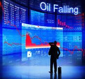 Digitally Generated of Oil Falling Concept Stock Photo