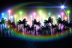 Digitally generated palm tree background Royalty Free Stock Image