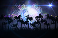 Digitally generated palm tree background Stock Image