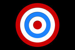 Digitally generated Red and blue target Stock Photo