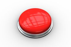 Digitally generated red push button Stock Photo