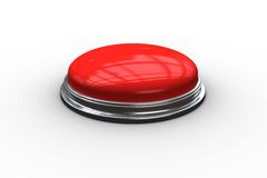 Digitally generated red push button Stock Photos