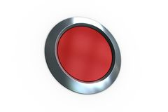 Digitally generated red push button Royalty Free Stock Image