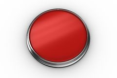 Digitally generated red push button Stock Image