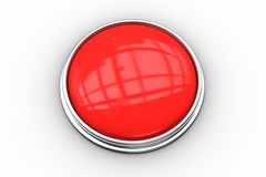 Digitally generated red push button Stock Images
