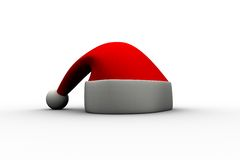 Digitally generated red Santa hat Royalty Free Stock Images