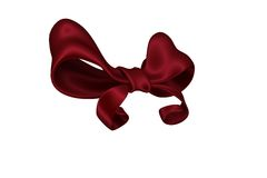 Digitally generated red shiny bow Royalty Free Stock Photos