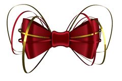 Digitally generated red shiny bow Stock Images