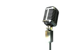 Digitally generated retro chrome microphone Royalty Free Stock Photo