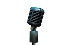 Digitally generated retro chrome microphone Royalty Free Stock Photos