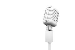 Digitally generated retro white microphone Royalty Free Stock Photography