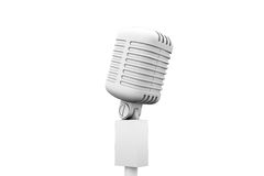 Digitally generated retro white microphone Royalty Free Stock Images