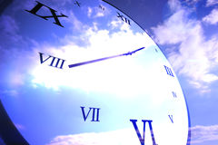 Digitally generated roman numeral clock Stock Photography