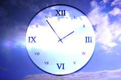 Digitally generated roman numeral clock Stock Photo