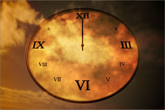 Digitally generated roman numeral clock Stock Photos