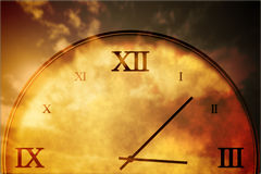 Digitally generated roman numeral clock Stock Images