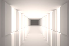 Digitally generated room with bright light Royalty Free Stock Images