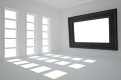 Digitally generated room with picture frame Royalty Free Stock Image
