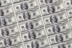 Digitally generated sheet of dollar bills Royalty Free Stock Photos